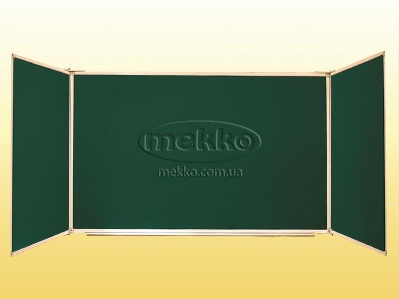 Дошка аудиторна, 3-створчата, магнітна під крейду, лоток під крейду, 5 робочих поверхонь (3000х1000 мм) (арт. 0743) Геліка  Кривий Ріг